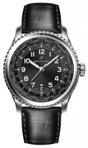 Navitimer_8_Unitime_with_black_dial_and_black_alligator_leather_strap