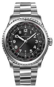 Navitimer_8_Unitime_with_black_dial_and_stainless_steel_bracelet
